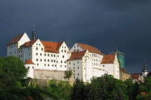 Schloss Colditz bei Gewitter