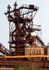 Bild Stahl-Art  | Usines Gustave Boël | Hochofen und Wasserturm des Hüttenwerkes