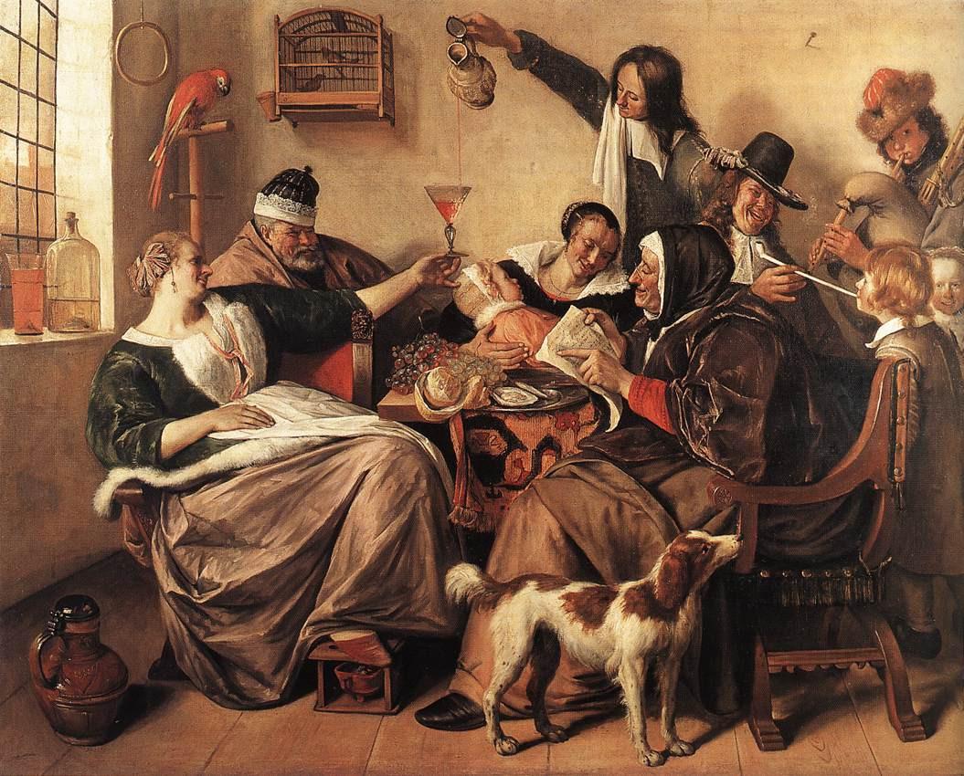 Jan Steen (1626-1679): Wie die Alten sungen