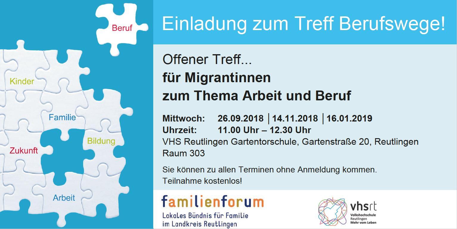 Berufswege - Offener Treff... für Migrantinnen zum Thema Arbeit und Beruf