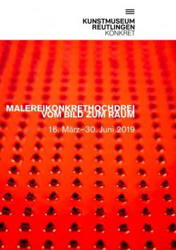Faltblatt zur Ausstellung: Malereikonkrethochdrei