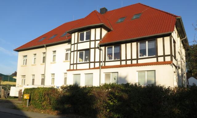 Vordersansicht Schullandheim Bautzen Burk