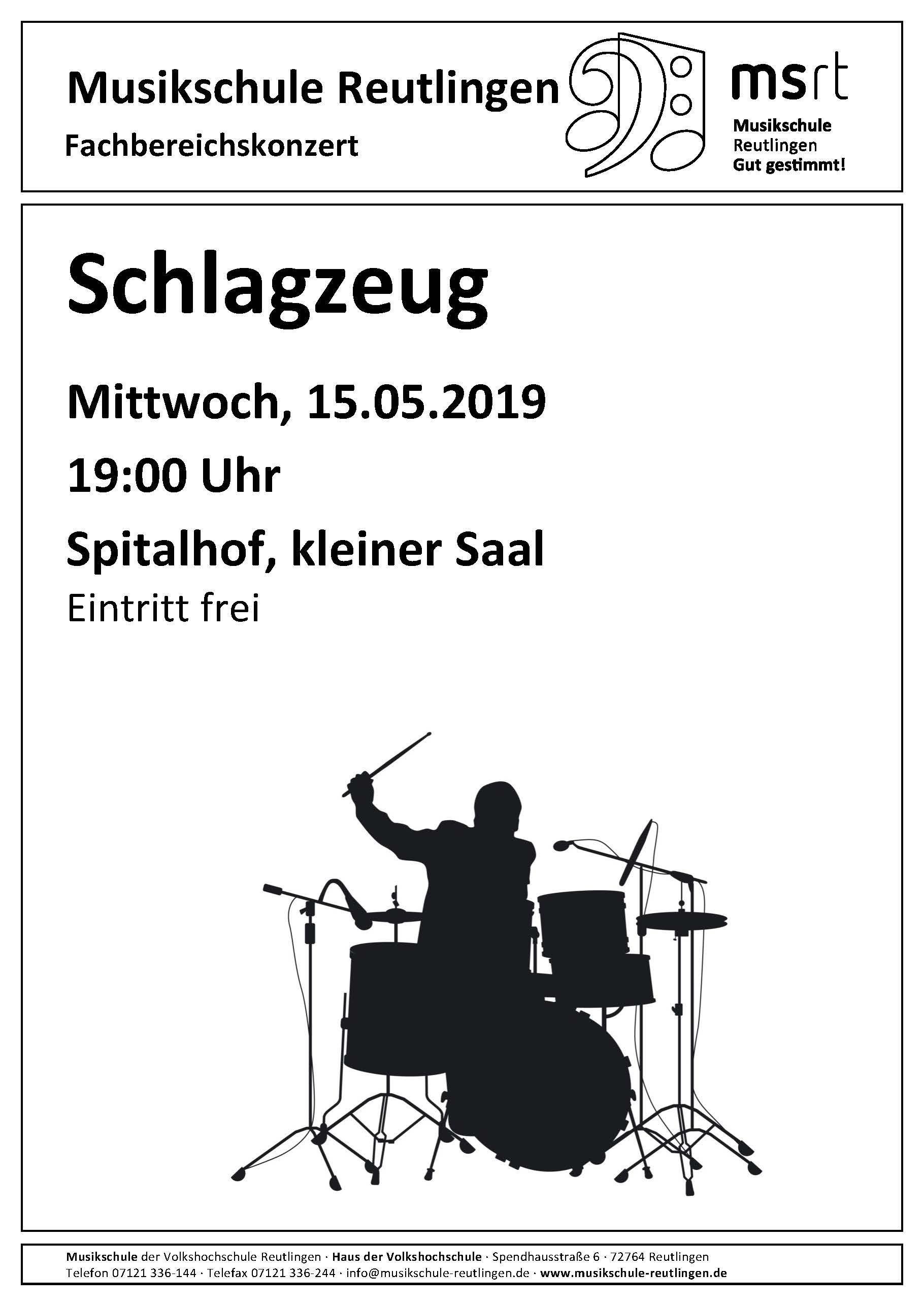 Plakat Fachbereichskonzert Schlagzeug