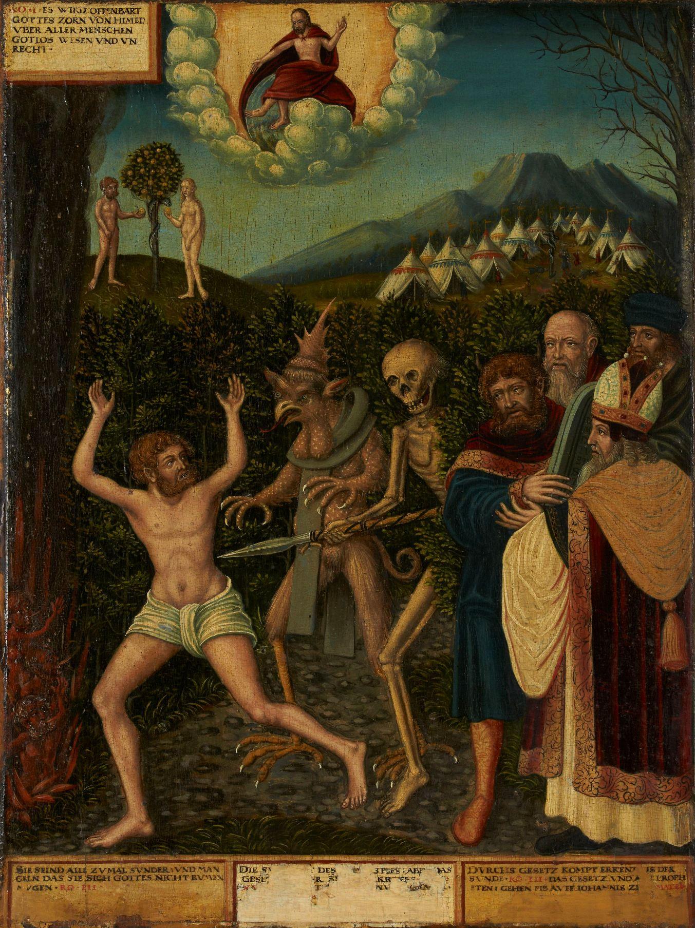 "Wolfgang Krodel, Ausschnitt aus dem Gemäldepaar ""Gesetz und Gnade"", 1542"